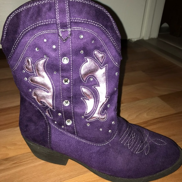 Purple Childrens Cowgirl Boots